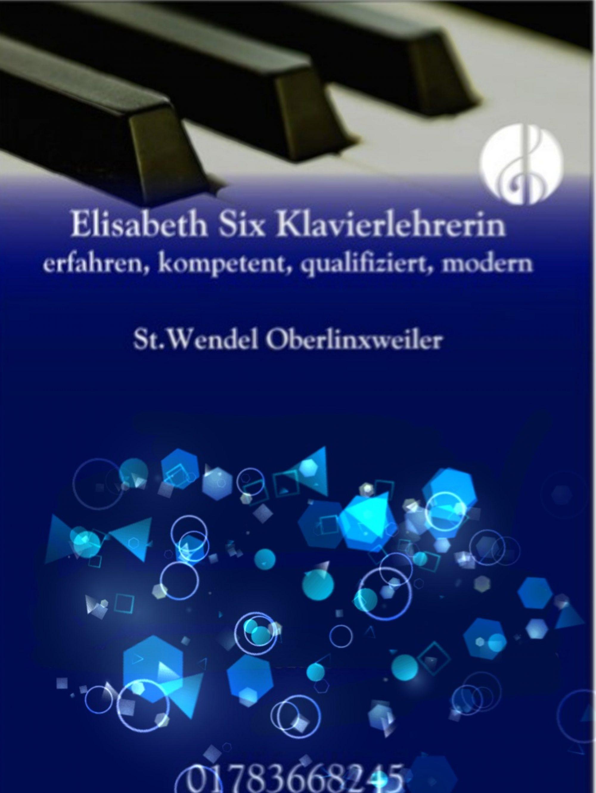 Klavierunterricht in St.Wendel Elisabeth Six